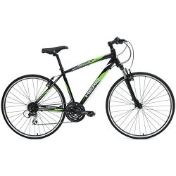 HEAD Revive XSM 700C Hybrid Road Bicycle, Black/Green, 18-Inch/Medium