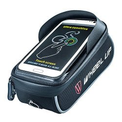 Xplanet Bike Frame Bag, Cycling Top Tube Phone Bag Front Handlebar Bag with Waterproof Touch Scr ...