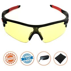 J+S Active PLUS Cycling Outdoor Sports Athlete's Sunglasses, 100% UV protection (Black Fra ...