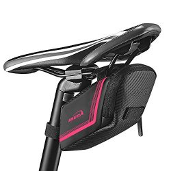Ibera Bicycle Strap-on Bike Saddle Bag/Seat Bag/Cycling Bag for Road and Other Bikes (Pink)