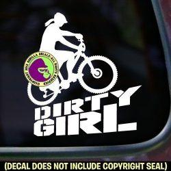 DIRTY GIRL Mountain Bike Vinyl Decal Sticker A