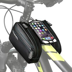 ArcEnCiel Bike Frame Bag Bicycle Top Tube Pouch Waterproof Cell Phone Holder ≤ 5.7″ Touch  ...