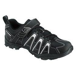 Exustar SM842 Mountain Bike Cycling Shoe, Black, Size 44