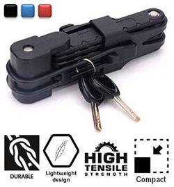 SG Dreamz Folding Bike Lock – Anti Theft Heavy Duty High Security Harden Steel Metal Compa ...