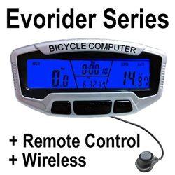 DZT1968 1SET Computer Wireless Bike Speedometer+Backlight+Remote Control+Transmitter Sensor