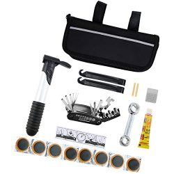 Black Mini Bicycle Repair Tool Kit Multi-Functional Bicycle Maintenance Tools With Handy Bag Wit ...