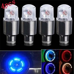 WensLTD Hot Sale 4X Bike Car Motorcycle Wheel Tire Tyre Valve Cap Neon LED Flash Light Lamp