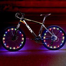 TIPEYE LED Bike Wheel Lights IP65 Waterproof with Batteries Included Easy to Install Bike Spoke  ...