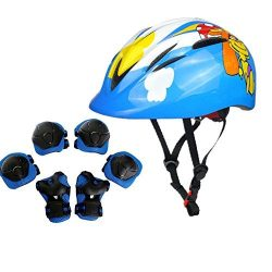 Atphfety Kids Helmet with Sports Protective Gear Set Knee Elbow Pads Wrist Guards for Cycling Sk ...