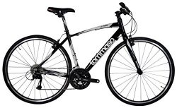 Tommaso La Forma Lightweight Aluminum Hybrid Bike -Black/White – Medium