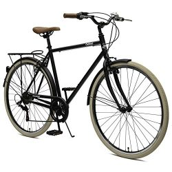 Critical Cycles Beaumont-7 Seven Speed Men's Urban City Commuter Bike; 50cm, Matte Black