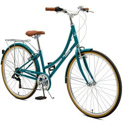 Critical Cycles Beaumont-7 Seven Speed Lady's Urban City Commuter Bike; 38cm, Turquoise, 3 ...