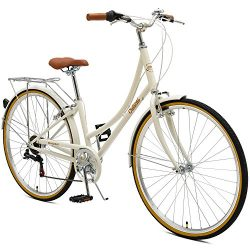 Critical Cycles Beaumont-7 Seven Speed Lady's Urban City Commuter Bike; 44cm, Eggshell, 44 ...