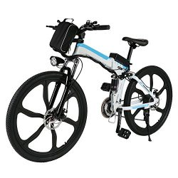 Ferty Folding Electric Moped Sport Mountain Men Bicycle with Large Capacity Battery [US STOCK] ( ...