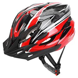 JBM Adult Cycling Bike Helmet Specialized for Men Women Safety Protection CPSC Certified (18 Col ...
