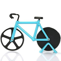 Yuxing Pizza Cutter – Bicycle Pizza Cutter Wheel Pizza Slicer Sharp Dual Stainless Steel B ...