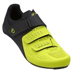 Pearl iZUMi Men's Select Road v5 Cycling Shoe, Black/Lime, 40.0 M EU (6.9 US)