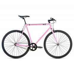 6KU Fixed Gear Single Speed Rouge Urban Fixie Road Bike, Pink, 42cm