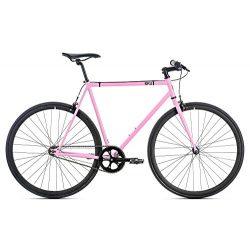 6KU Fixed Gear Single Speed Rouge Urban Fixie Road Bike, Pink, 58cm