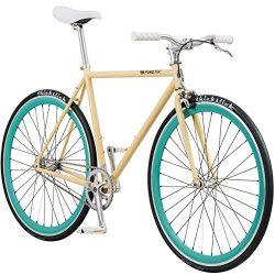 Pure Fix Original Fixed Gear Single Speed Bicycle, X-Ray Gloss Cream/Mint Green, 43cm/XX-Small