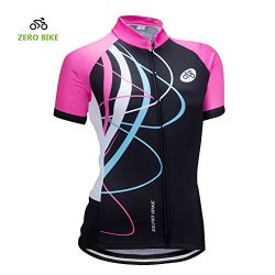 ZEROBIKE Women's Short Sleeve Cycling Jersey Jacket Cycling Shirt Quick Dry Breathable Mou ...