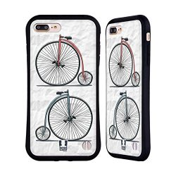 Head Case Designs Printed Gentle Retro Bikes Hybrid Case for iPhone 7 Plus / iPhone 8 Plus