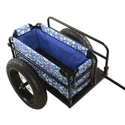 Cycle Force EV Bicycle Cargo & Surfboard Trailer with Blue Cover
