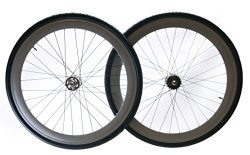 Track / Fixed Fixie Bike Deep 50mm Rim 700c Wheelset + Tires Tubes Cogs 32H NEW