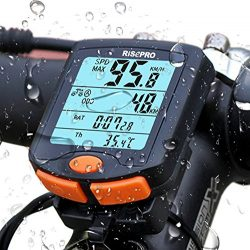 RISEPRO Bike Computer, Wireless Bicycle Speedometer Bike Odometer Cycling Multi Function Waterpr ...
