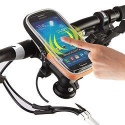 ROSWHEEL 4.8″ 5.5″ Touch Screen Smart Mobile Cell Phone Holder Bicycle Bag Front Fra ...