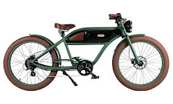GREASER RETRO STYLE Electric BIKE – 26″ Wheels, Bafang 350W Brushless Electric Motor ...