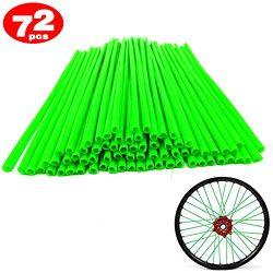 72Pcs/Lot Spoke Skin Covers, Movement Fashion Universal Protective Wheel Coil Wraps for Motorcyc ...