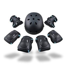 Kid's Protective Gear Set SKL Knee Pads for Kids Knee and Elbow Pads with Wrist Guards for ...