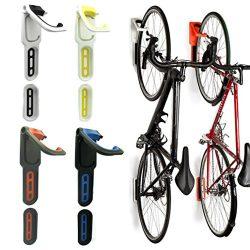 Reliancer 2 Pack Foldable Vertical Bike Rack Wall Mounted Bicycle Cycle Storage Rack Single Bike ...