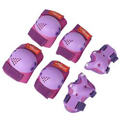 eNilecor Kids Knee Pads, Child Protective Gear Set, Toddler Knee Elbow Pads Wrist Guards for Ska ...