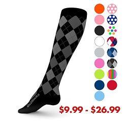 GO2 SOCKS High Compression 20-30 mmHG Sport Line-Athletic Socks for Men & Women-Stockings fo ...