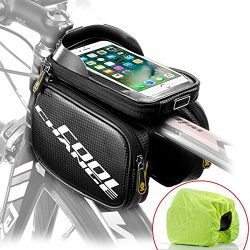 Cool Change Bike Frame Bag Touch Screen | Tough Case | Large Safty Reflective| Mobile Cell Phone ...