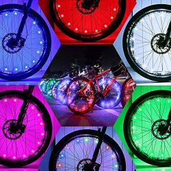 DAWAY Led Wheel Bike Lights – A01 Bright Bicycle Spoke Light (2 Tire Pack), Safety Cool Bi ...