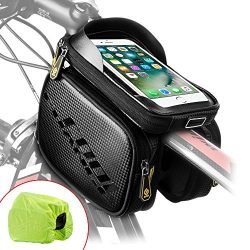 Cool Change Bike Frame Bag Touch Screen | Tough Case | Safty Edge Reflective| Mobile Cell Phone  ...