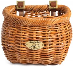 Nantucket Bike Basket Co. Cisco Collection Classic/Tapered Bicycle Basket (Tan,11.5 x 9.5″ ...