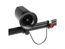Gelaiken 6-sound Vintage Bike Bell Super-Loud Electronic Siren Horn Ring Alarm Speaker Cycling H ...