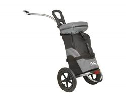 M-Wave Shop & Ride Luggage Trailer and Cart, Black/Grey
