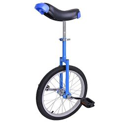 Astonishing Blue 18 Inch In 18″ Mountain Bike Wheel Frame Unicycle Cycling Bike With Comfo ...