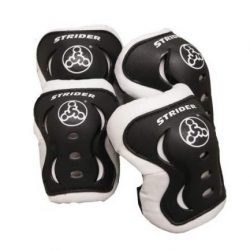 Strider – Knee and Elbow Pad Set for Safe Riding, Black