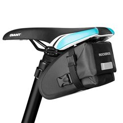 RockBros Waterproof Bicycle Saddle Bag Mountain Bike Cycling Seat Pack for Road Folding Bike Black
