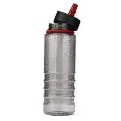 HP95 Water Bottle with Straw,800ML/27oz BPA Free Straw Sports Water Bottle Drinks Sports Hydrati ...