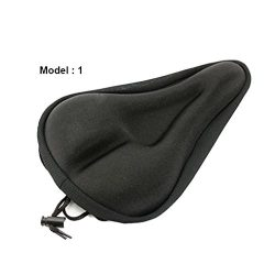 Ecosin Fashion New Soft Bike Bicycle Cycle Extra Comfort Gel Pad Cushion Cover For Saddle Seat ( ...