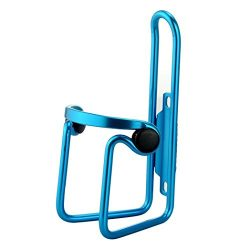 DZT1968Durable Aluminum Alloy Bike Drink Water Bottle Rack Holder Cages Bracket (Blue)