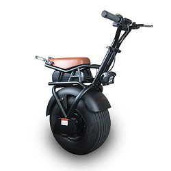 SUPERRIDE Electric Unicycle S1000, Self Balancing One Wheel Scooter with Single Fat Tire & 1 ...