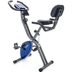 Merax Folding 3 in 1 Adjustable Exercise Bike Convertible Magnetic Upright Recumbent Bike, with  ...